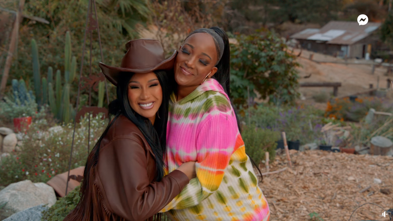 Mickey Guyton Joins Cardi B On The Ranch For Her Facebook Series, 'Cardi Tries'