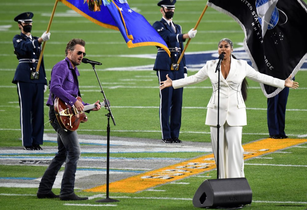 Watch Eric Church and Jazmine Sullivan Sing the National Anthem at Super Bowl 55