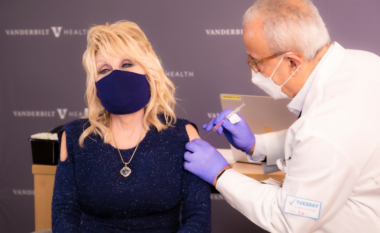 Dolly Parton Receives Moderna Vaccine for COVID-19