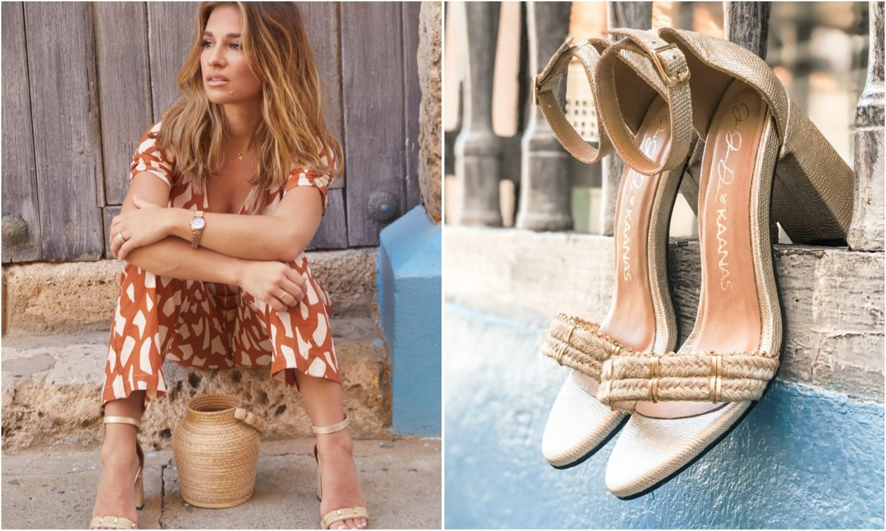 Enter For A Chance to WIN A Pair of Gold Luzon Heels From Jessie James Decker's KAANAS Shoe Collection