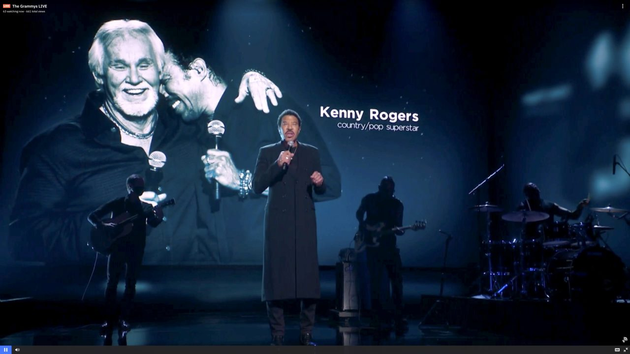 Lionel Richie Honors Kenny Rogers at the 2021 GRAMMYs