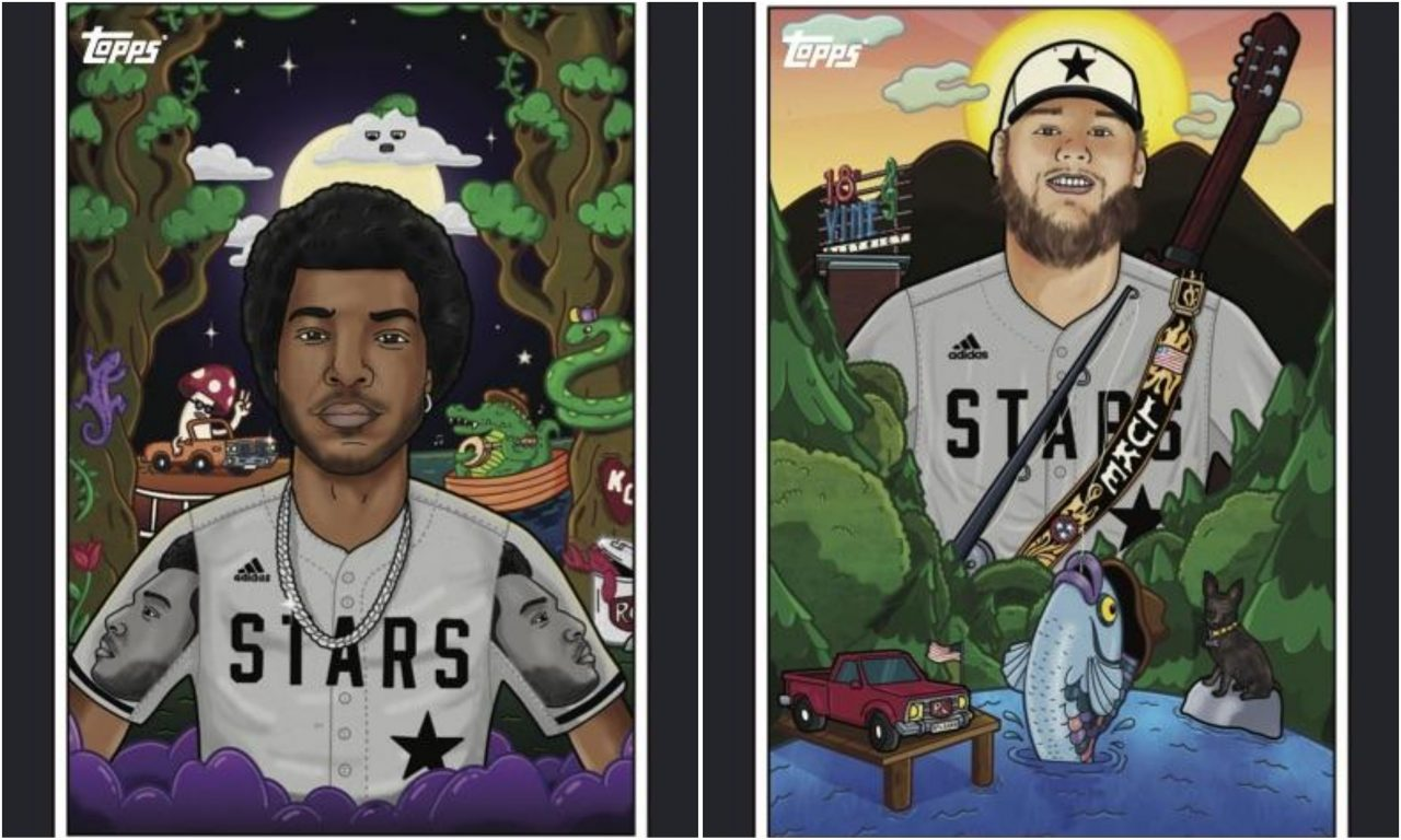 Luke Combs, Kane Brown and Willie Jones Get Their Own Baseball Cards